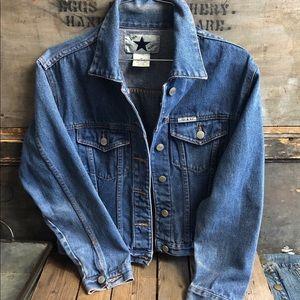 1980's Vintage Star Blue Denim Jacket